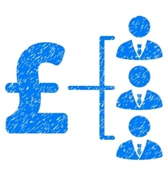 Staff pound payment grainy texture icon vector