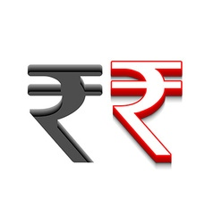 symbol rupee design vector image vector image