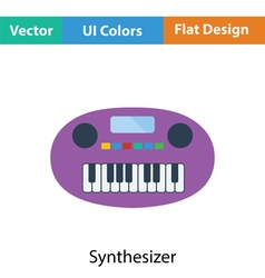 Synthesizer toy icon vector image vector image