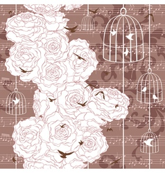 Vintage romantic seamless pattern vector