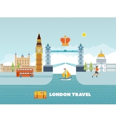 Flat design of London city Modern building vector image