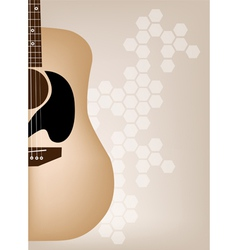 Elegance Guitars on Beautiful Brown Background vector image