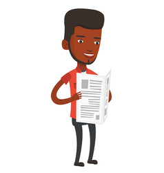 man reading newspaper vector image