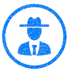 Farmer boss rounded grainy icon vector