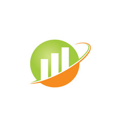 Business finance round logo vector