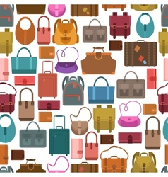 Bags colored seamless pattern vector