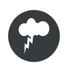 Monochrome round thunderstorm icon vector