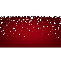 Snow red abstract background vector