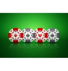 Casino chips with card suit symbols vector