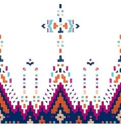 hand drawn tribal seamless border vector image