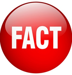 Fact red round gel isolated push button vector