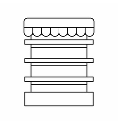 Empty supermarket refrigerator icon outline style vector