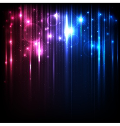Background with magic blue and red lights vector image vector image
