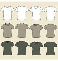 Blank t-shirts template vector image vector image