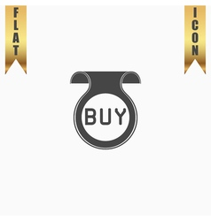 Bookmark with buy message vector