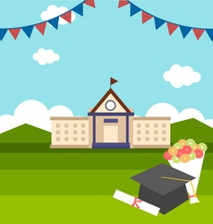 Celebrations of graduation with background vector