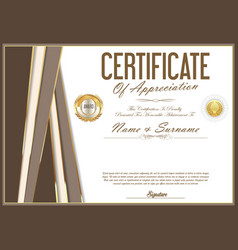 certificate retro design template 06 vector image