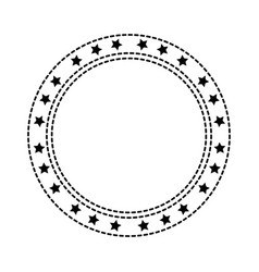 circle seal with stars vector image