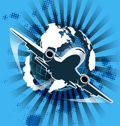 civil aviation vector image
