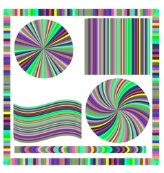 Colorful frame and circle vector
