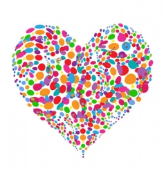 funny colorful heart shape design vector image vector image