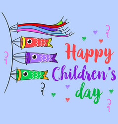Happy children day theme style collection vector