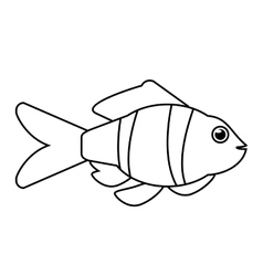 Isolated fish animal cartoon design vector image vector image
