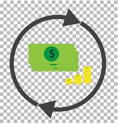 money convert transparent currency converter vector image vector image