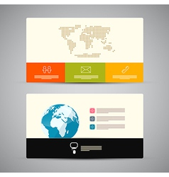 Paper Business Card Template vector image