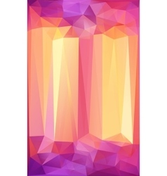 Pink and orange triangles abstract poster vector