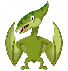 pterodactyl cartoon vector image vector image
