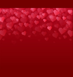 red background with many hearts valentines day vector image vector image