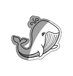 Sea whale cartoon vector image