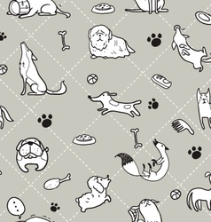 Seamless dogs pattern b vector