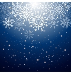Silver winter abstract background Christmas with vector image vector image