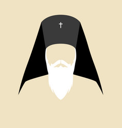 simple graphic of an orthodox archbishop vector image