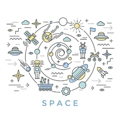 Space line art vector