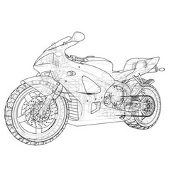 Sports bike technical wire-frame eps10 format vector