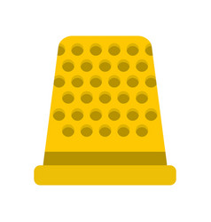 Thimble icon flat style vector