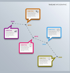 Time line info graphic with colorful design vector