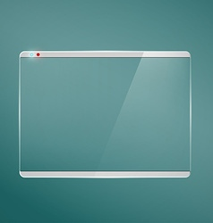Transparent glass futuristic screen vector