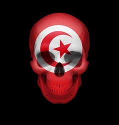 Tunisian flag skull vector