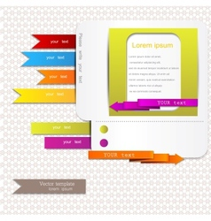 Website elements vector image vector image