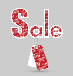 colorful sale sign with tags vector image