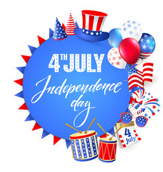 4th july independence day of usa vector image