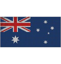 Grunge mosaic flag of australia vector
