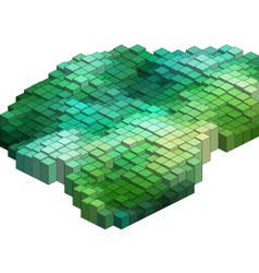 3D Cubes Abstract Background vector image