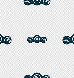 Speed speedometer icon sign seamless pattern with vector