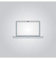 Laptop - icon sign and button vector