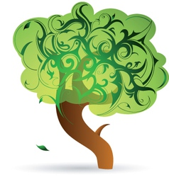 Tree floral vector
